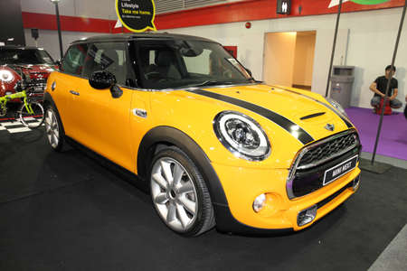 purchasers: BANGKOK - August 4: Mini Next car on display at Big Motor sale on August 4, 2015 in Bangkok, Thailand.