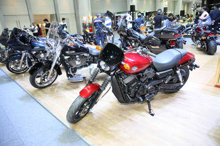 harley davidson motorcycle: BANGKOK - December 1: Harley Davidson motorcycle on display at The Motor Expo 2015 on December 1, 2015 in Bangkok, Thailand. Editorial