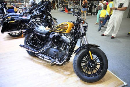 harley davidson motorcycle: BANGKOK - December 11 : Harley Davidson motorcycle on display at The Motor Expo 2015 on December 11, 2015 in Bangkok, Thailand.