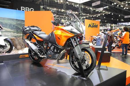 BANGKOK - December 11 : KTM Adventure motorcycle on display at The Motor Expo 2015 on December 11, 2015 in Bangkok, Thailand.
