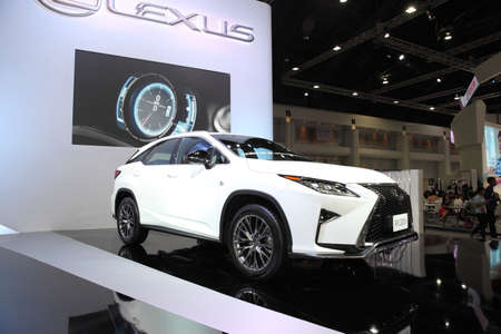 rx: BANGKOK - December 11: Lexus RX 200t car on display at The Motor Expo 2015 on December 11, 2015 in Bangkok, Thailand.