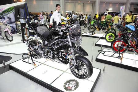 modificar: BANGKOK - December 11 : Motorcycle with murazaki modify set on display at The Motor Expo 2015 on December 11, 2015 in Bangkok, Thailand. Editorial