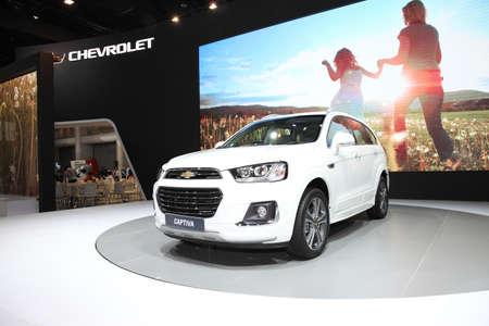 chevrolet: BANGKOK - December 11: Chevrolet Captiva car on display at The Motor Expo 2015 on December 11, 2015 in Bangkok, Thailand.