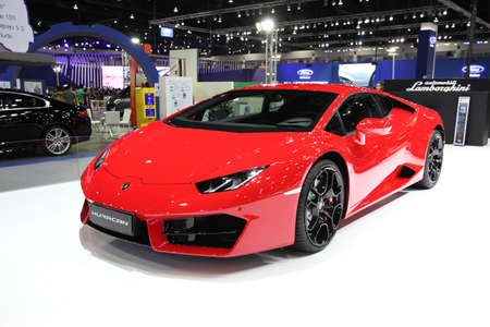 lamborghini: BANGKOK - December 11: Lamborghini Huracan car on display at The Motor Expo 2015 on December 11, 2015 in Bangkok, Thailand.
