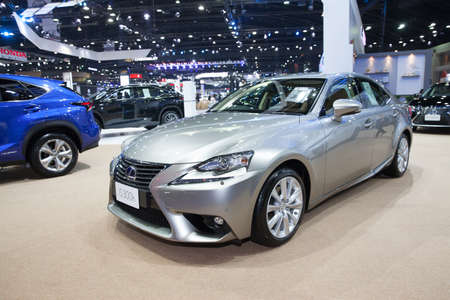 BANGKOK - MARCH 22: Lexus IS 300h car on display at The 37 th Thailand Bangkok International  Motor Show  on March 22, 2016 in Bangkok, Thailand.