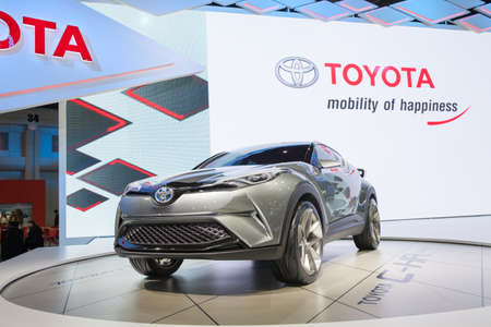 chr: BANGKOK - MARCH 22: Toyota C-HR car on display at The 37 th Thailand Bangkok International  Motor Show  on March 22, 2016 in Bangkok, Thailand. Editorial