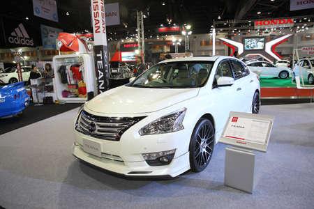 nissan: BANGKOK - June 24: Nissan Teana car on display at Bangkok International Auto Salon 2016 on June 24, 2016 in Bangkok, Thailand.