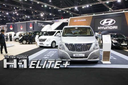 elite: BANGKOK - November 30: Hyundai H-1 Elite+ Touring  car on display at Motor Expo 2016 on November 30, 2016 in Bangkok, Thailand.