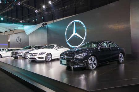 purchasers: BANGKOK - November 30: Showroom of Mercedes-benz car at Motor Expo 2016 on November 30, 2016 in Bangkok, Thailand.