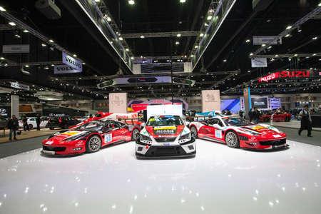 purchasers: BANGKOK - November 30: Showroom of Singha Corporation on display at Motor Expo 2016 on November 30, 2016 in Bangkok, Thailand.