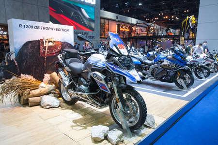 Bangkok, Thailand. 28th Mar, 2017. BMW GS 1200 adventure motorcycle on display at The 38th Bangkok International Thailand Motor Show 2017 on March 28, 2017 Nonthaburi, Thailand