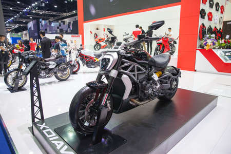 Bangkok, Thailand. 28th Mar, 2017. Ducati xdiavel x Traorinary motorcycle on display at The 38th Bangkok International Thailand Motor Show 2017 on March 28, 2017 Nonthaburi, Thailand