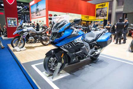 exposición: Bangkok, Thailand. 28th Mar, 2017. BMW K 1600 motorcycle on display at The 38th Bangkok International Thailand Motor Show 2017 on March 28, 2017 Nonthaburi, Thailand