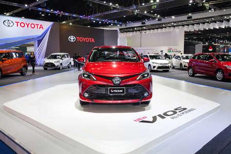 Bangkok, Thailand. 28th Mar, 2017. Toyota New  Vios car on display at The 38th Bangkok International Thailand Motor Show 2017 on March 28, 2017 Nonthaburi, Thailand