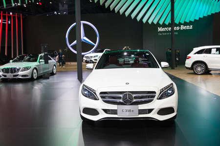 Bangkok, Thailand. 28th Mar, 2017. Mercedes benz C 350 e car on display at The 38th Bangkok International Thailand Motor Show 2017 on March 28, 2017 Nonthaburi, Thailand
