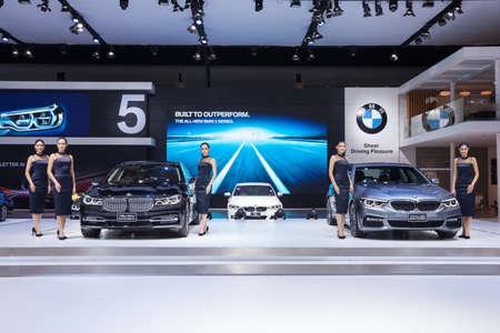 Bangkok, Thailand. 28th Mar, 2017. BMW car with unidentified model  on display at The 38th Bangkok International Thailand Motor Show 2017 on March 28, 2017 Nonthaburi, Thailand