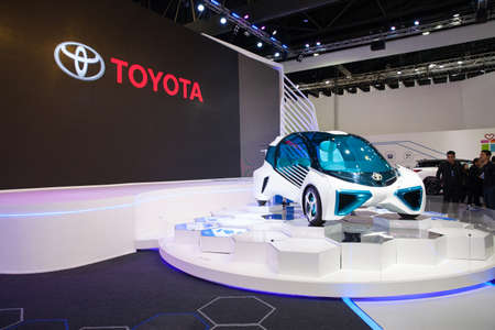 Bangkok, Thailand. 28th Mar, 2017. Toyota PCV Plus car on display at The 38th Bangkok International Thailand Motor Show 2017 on March 28, 2017 Nonthaburi, Thailand