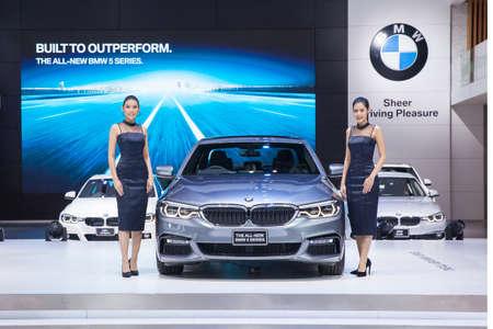 Bangkok, Thailand. 28th Mar, 2017. The All New BMW 5 Searies car on display at The 38th Bangkok International Thailand Motor Show 2017 on March 28, 2017 Nonthaburi, Thailand