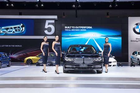 Bangkok, Thailand. 28th Mar, 2017. BMW 740Le XDrive Pure Excellence car on display at The 38th Bangkok International Thailand Motor Show 2017 on March 28, 2017 Nonthaburi, Thailand