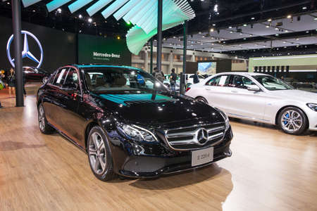 Bangkok, Thailand. 28th Mar, 2017. Mercedes benz E 220 d car on display at The 38th Bangkok International Thailand Motor Show 2017 on March 28, 2017 Nonthaburi, Thailand