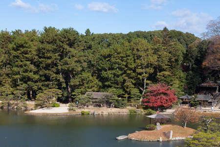 Okayama Korakuen Garden, One of Japan's three most celebrated gardens. Stock Photo
