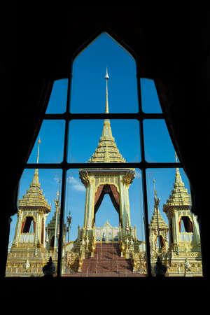 Bangkok Thailand ,December 31, 2017 - The royal funeral ceremony procession for the late King Bhumibol Adulyadej, Rama9