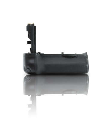 Battery grip for dslr cameras isolated over white  photo