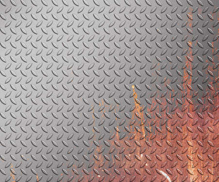 ironworks: steel diamond plate texture background  metal plate Stock Photo