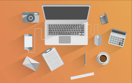 Flat design icon set of  business  Illustration