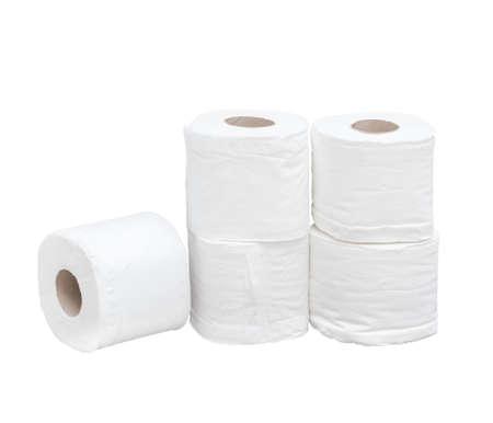 papel higienico: Papel higi�nico sobre fondo blanco