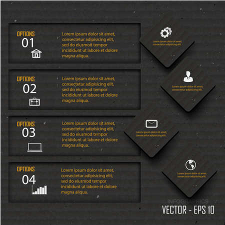 Paper progress steps, Vector design template,infographi c design Vector