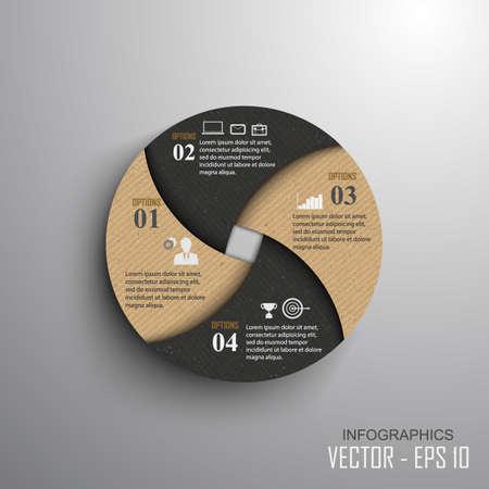 Papier Fortschritt Schritte, Vektor-Design-Vorlage, Vektor-Illustration Standard-Bild - 34071809