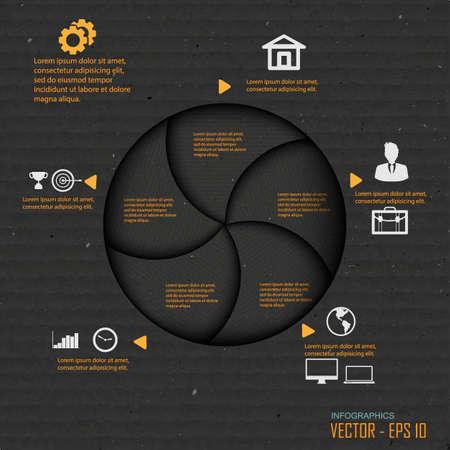 progress steps: Paper progress steps, Vector design template,infographic design
