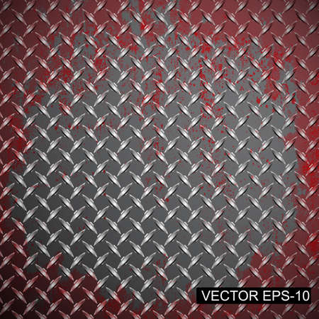 Metal diamond plate. Vector