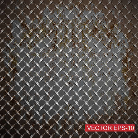 Metal diamond plate.