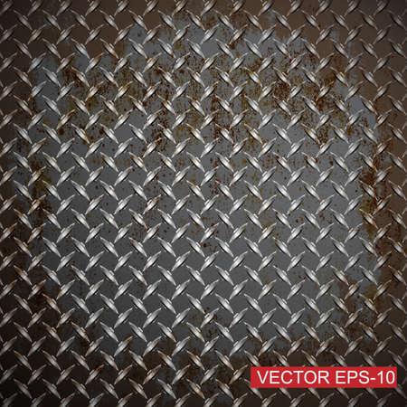 Metal diamond plate.