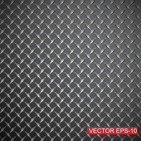 Metal diamond plate.abstract industrial background.Vector illustration Vector