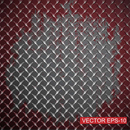 diamond plate: Metal diamond plate.