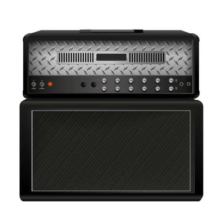 guitar amplifier: Electric guitar amplifier Illustration