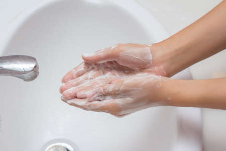 Cleaning Hands. photo