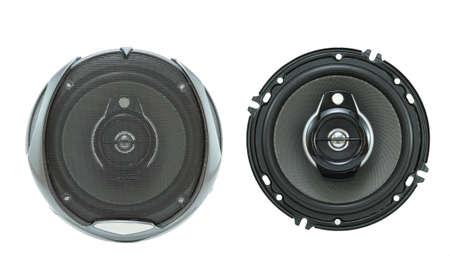 speaker: Car loudspeaker Stock Photo