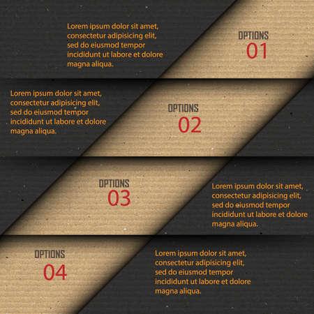 progress steps: Paper progress steps, Vector design template,infographics design