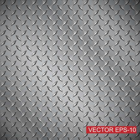 metals: diamante placa de acero la textura de fondo