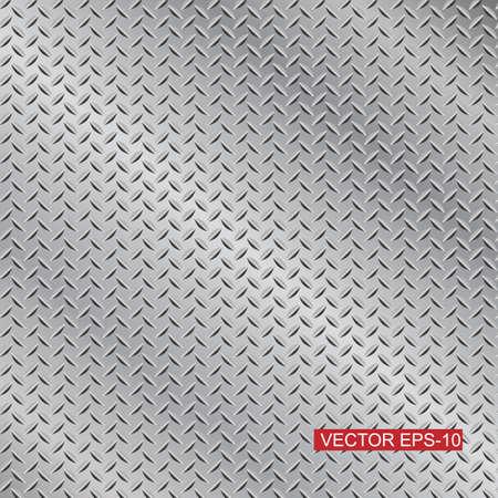 steel diamond plate texture background Vector
