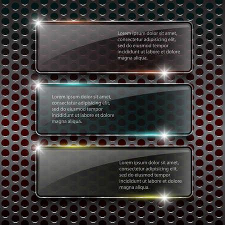 Glass framework on metal background Stock Vector - 36633850
