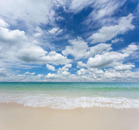 unspoilt: Beautiful Tropical Beach Stock Photo