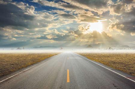 empty asphalt road photo