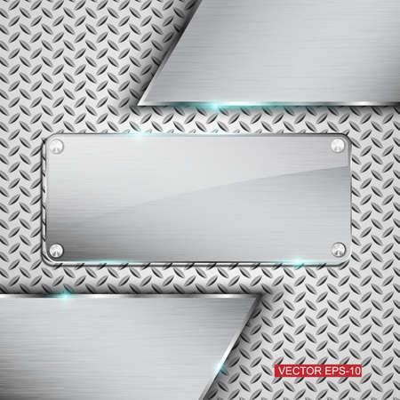 Metal background.Vector illustration