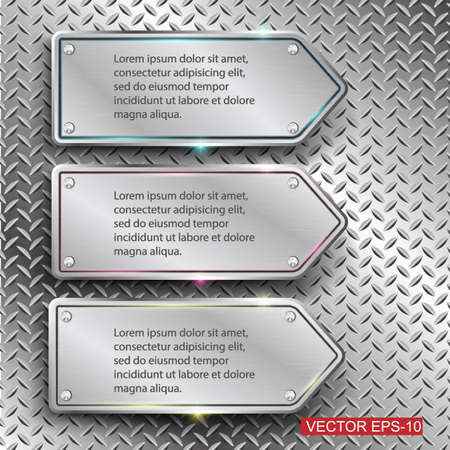 silver metal: Metal background.Vector illustration