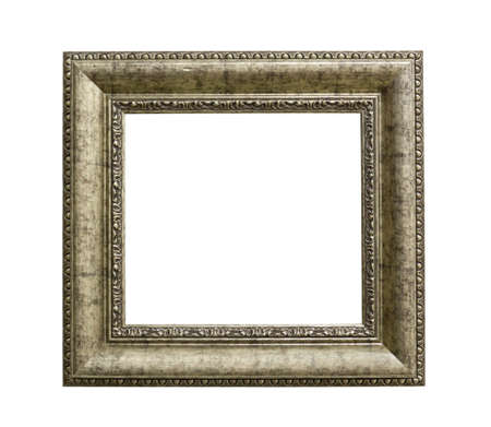 old frame isolated on white